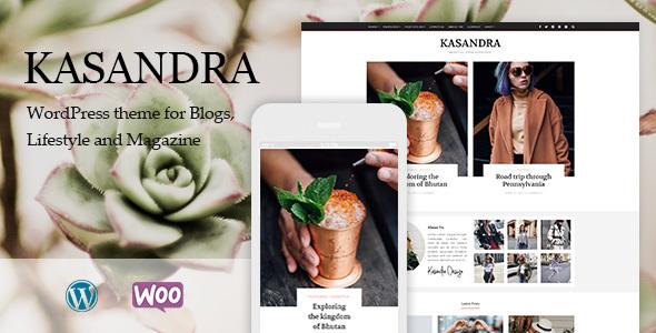 Kasandra - قالب فروشگاهی و بلاگی وردپرس