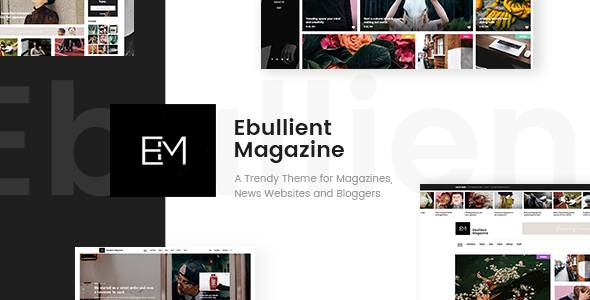 قالب Ebullient - قالب مدرن خبری و مجله ای وردپرس