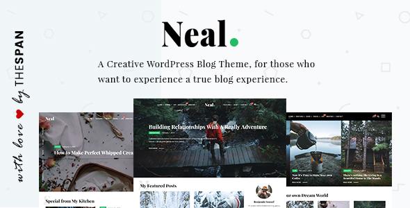 Neal - قالب وبلاگی خلاقانه وردپرس