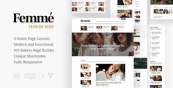 Femme - قالب وردپرس وبلاگ مجله آنلاین و مد