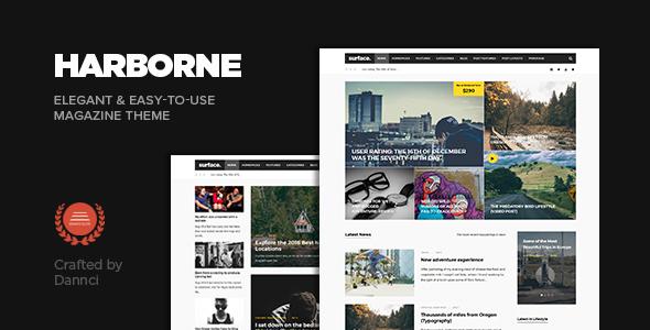 قالب Harborne - قالب وردپرس مجله و وبلاگ