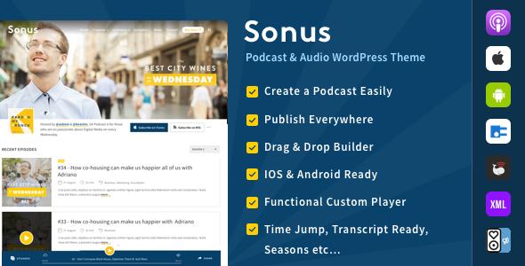قالب Sonus - قالب وردپرس پادکست و صوت