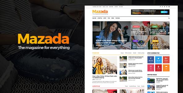 Mazada - قالب وردپرس خبری و مجله