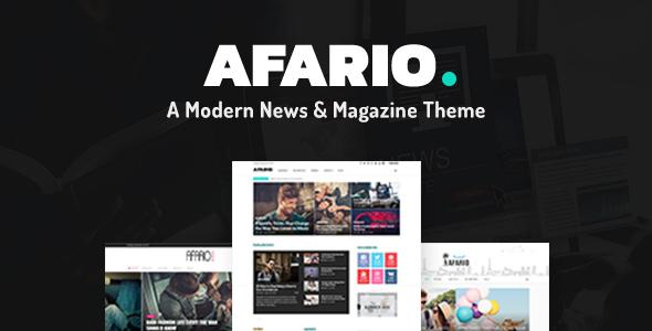 قالب Afario - قالب وردپرس اخبار و مجله