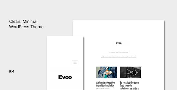 قالب Evoo - قالب وردپرس برای وبلاگ نویسان