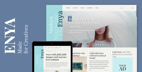 قالب Enya - قالب وردپرس برای بلاگرها