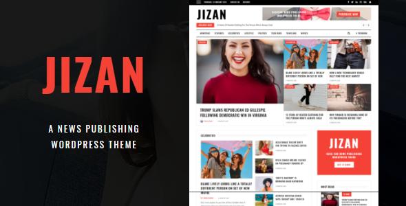 قالب Jizan - قالب وردپرس روزنامه و مجله