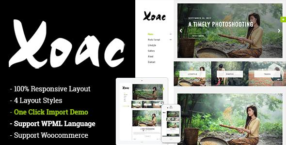 قالب Xoac - قالب وردپرس وبلاگ سفر