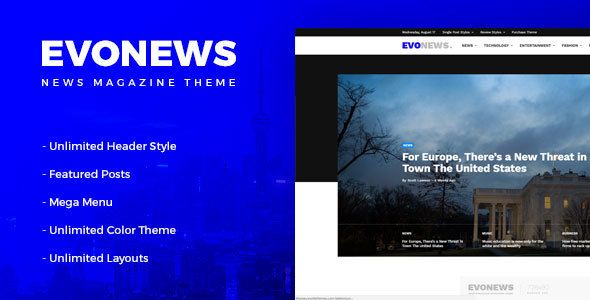 قالب Evonews - قالب وردپرس خبری و مجله