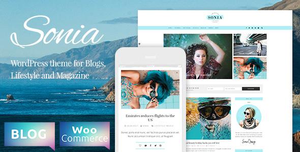 Sonia - قالب فروشگاهی و بلاگی وردپرس