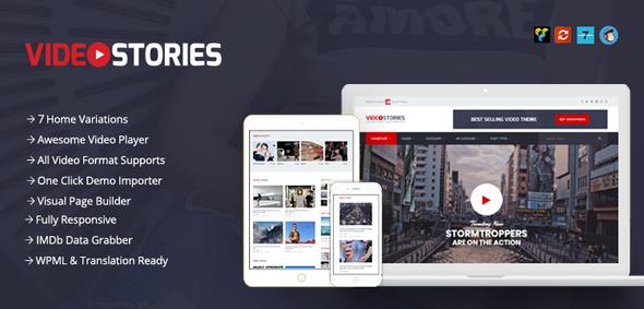 قالب VideoStories - قالب ویدئو وردپرس