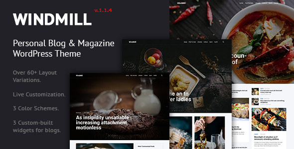 قالب WindMill - قالب وردپرس وبلاگ شخصی و مجله