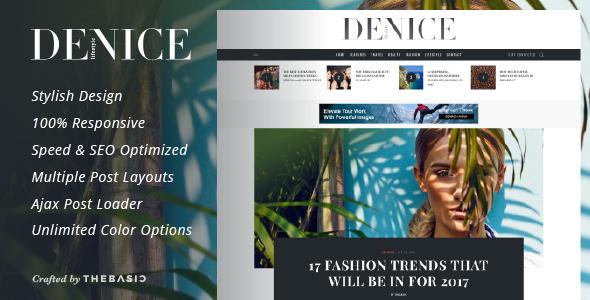 قالب Denice - قالب وبلاگ وردپرس