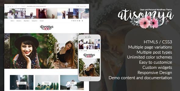 قالب Atisomya - قالب وبلاگ شخصی و ساده وردپرس