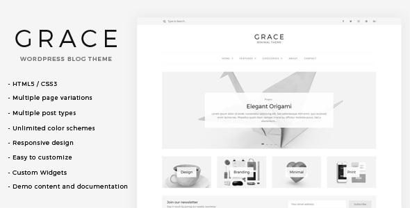 Grace - قالب وردپرس وبلاگی مینیمال