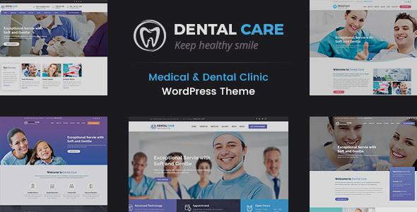 قالب Dental Care - قالب وردپرس پزشکی و دندان پزشکی