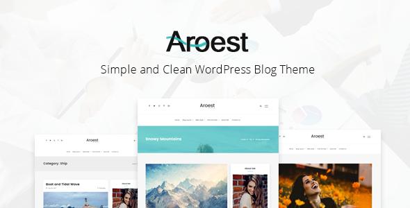 قالب Aroest - قالب وردپرس وبلاگی ساده