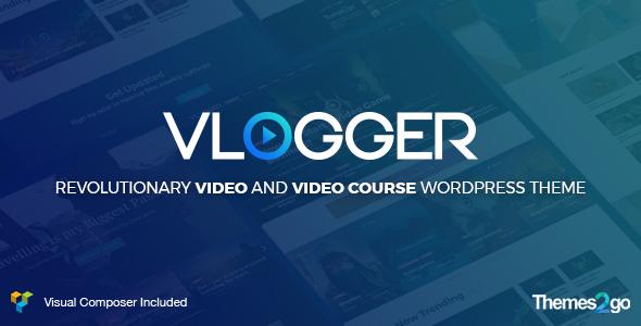 قالب Vlogger - قالب وردپرس ویدئو آموزشی