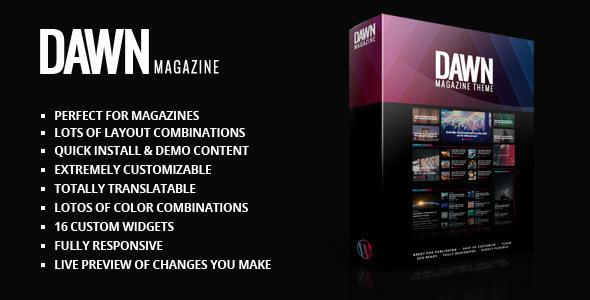 قالب Dawn - قالب مجله وردپرس