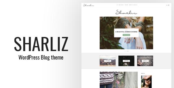 قالب Sharliz - یک قالب وردپرس وبلاگ شخصی