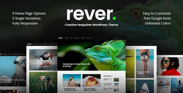 قالب Rever - قالب وردپرس ساده