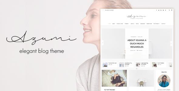 قالب Azumi - قالب وبلاگ زیبا