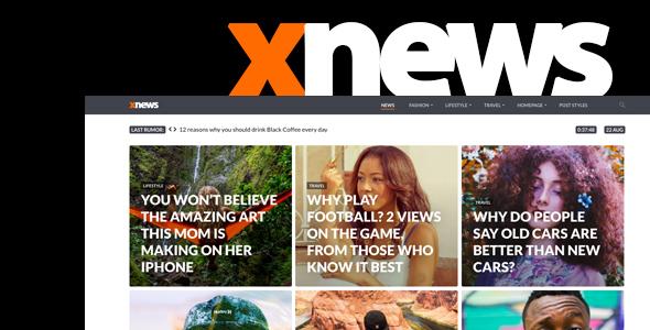 Xnews - قالب وردپرس مجله خبری