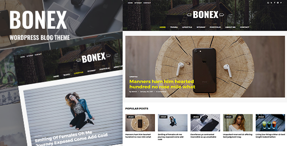 قالب Bonex - قالب وردپرس وبلاگی