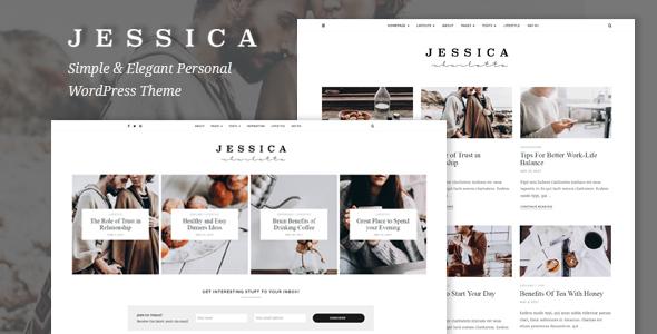 Jessica - پوسته وردپرس وب سایت شخصی