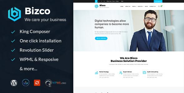 قالب Bizco - قالب وردپرس مشاوره کسب و کار و خدمات حرفه ای