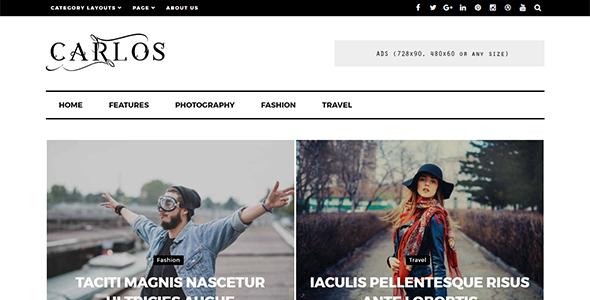 Carlos - قالب مجله و وبلاگ وردپرس