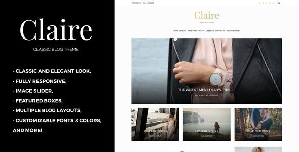 قالب Claire - قالب بلاگ کلاسیک وردپرس