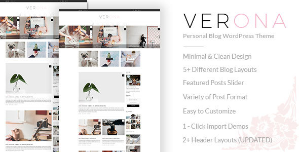 Verona - قالب وردپرس سایت شخصی
