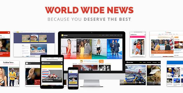 قالب News - قالب مجله خبری و روزنامه