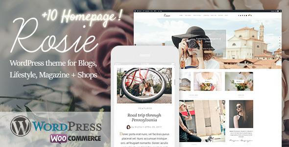 قالب Rosie - قالب وردپرس بلاگی و فروشگاهی زیبا