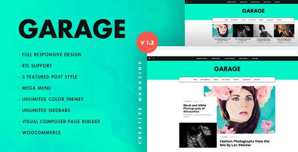 قالب Garage - قالب وردپرس مجله ای