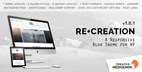 ReCreation - قالب وبلاگی برای وردپرس