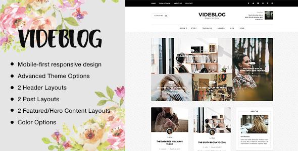 قالب Videblog - قالب وبلاگ وردپرس