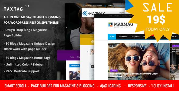قالب Maxmag - قالب وردپرس مجله