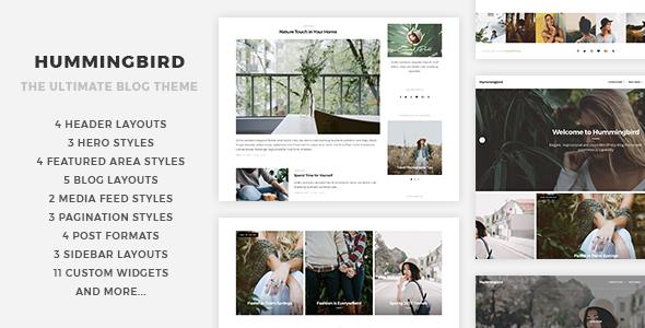 Hummingbird - قالب وبلاگی وردپرس