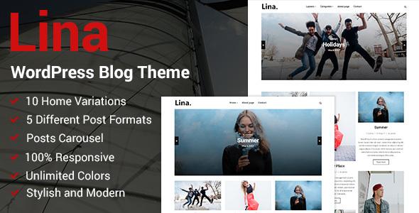 قالب Lina - قالب وبلاگ وردپرس ریسپانسیو