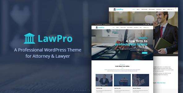 قالب Lawpro - قالب وردپرس حرفه ای برای وکلا