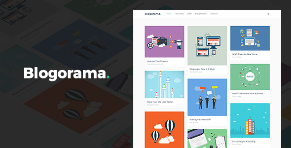 قالب Blogorama - قالب وبلاگ وردپرس
