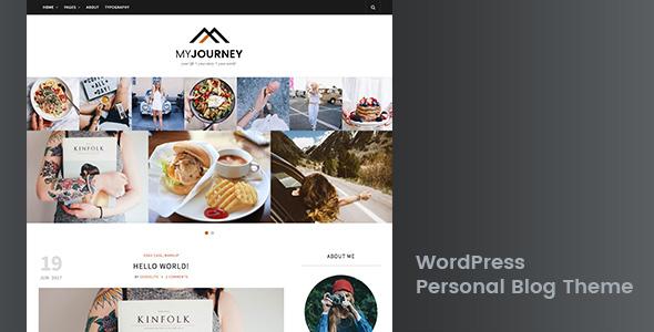 My Journey - قالب وردپرس وبلاگ شخصی