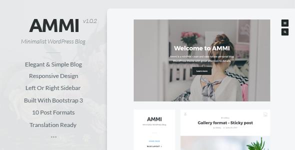 قالب Ammi - قالب وردپرس بلاگی مینیمال