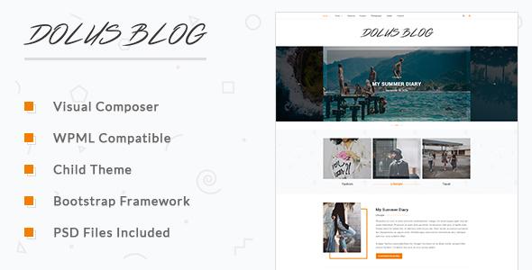 Dolus - قالب وردپرس وبلاگ