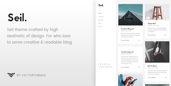 قالب Seil - قالب وبلاگ وردپرس