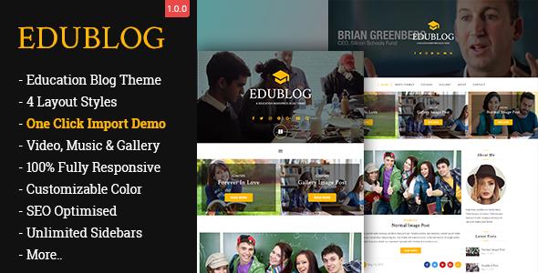 قالب EduBlog - قالب وردپرس بلاگ آموزشی