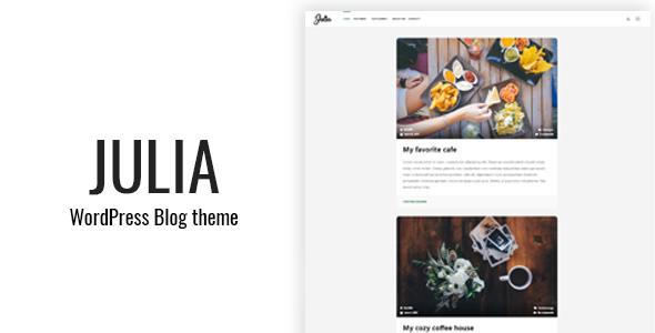 Julia - قالب بلاگ کلاسیک وردپرس