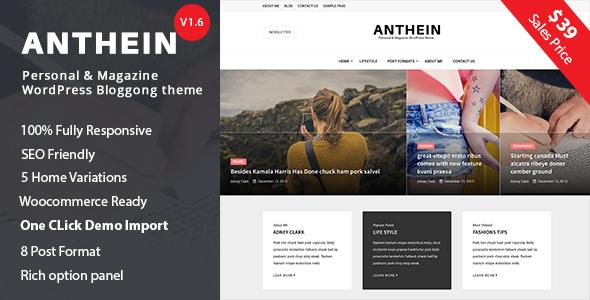 قالب Anthein - قالب وبلاگ وردپرس